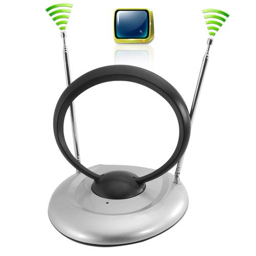 Potente antena tv interior para tv digital y anal gica for Antenas de tv interiores