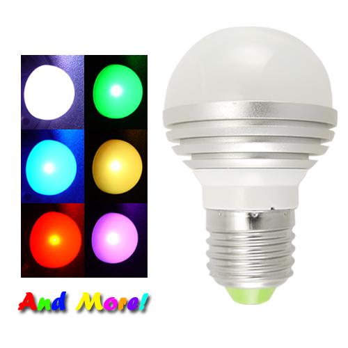 Bombilla LED de Colores Cambiantes con Control Remoto de rosca estándar